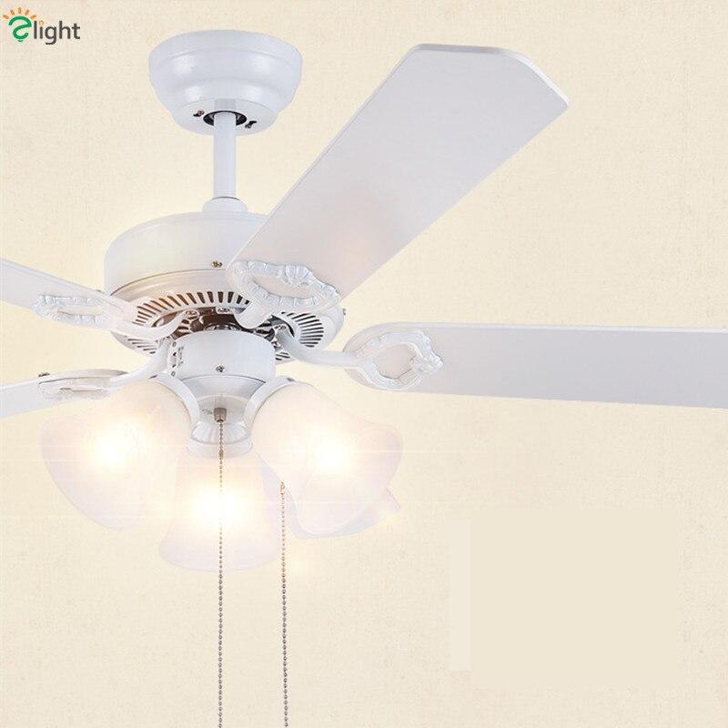Moderne Simple feuille de bois Dimmable Led ventilateurs de plafond lumières Lustre en verre salle à manger Led ventilateur de plafond lampe Led plafonniers