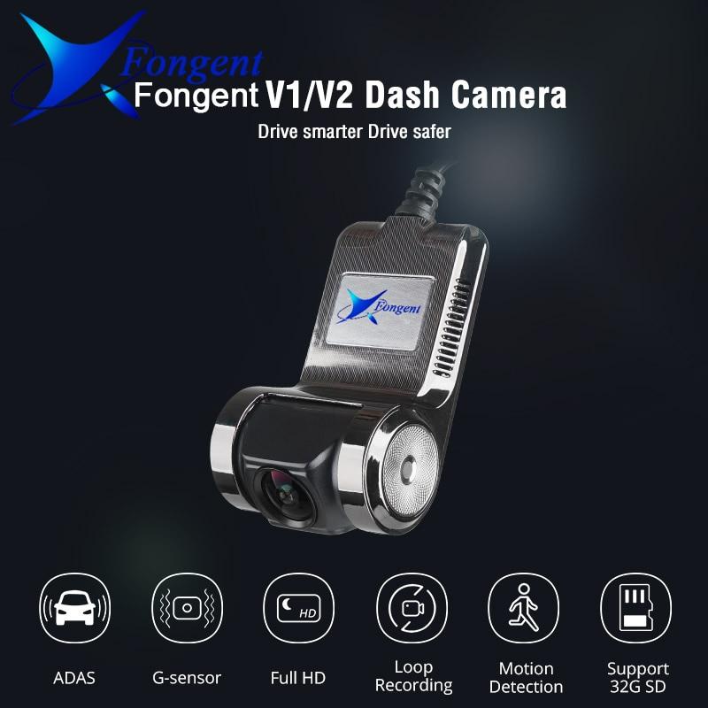 Fongent Car DVR Camera 1080P FHD Lens WiFi ADAS Built-in G-sensor Video Recorder Car Dash Camera Car Electronics Accessories