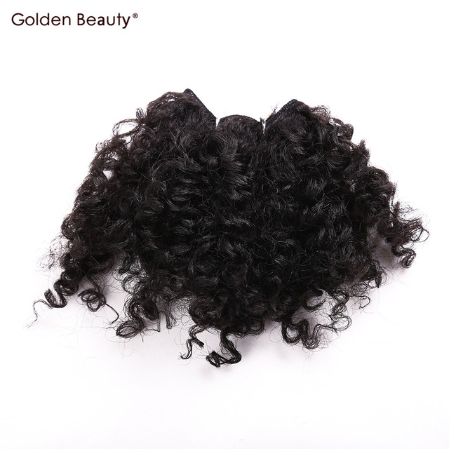 6inch 6pcspack Synthetic Hair Weave Noble Gold Weft Hair Extensions