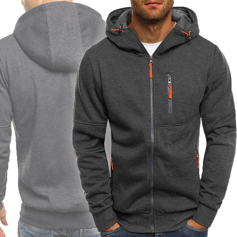 Winter Mens Hoodies Coat 2019 Hip Hop Streetwear Solid Zipper Hooded Jaqueta Masculino Casaco Men Fitness Jackets Abrigo Hombre