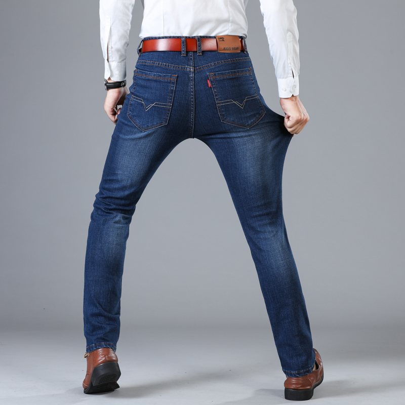 Spring Cotton Denim Skinny Denim   Jeans   Men 2019 Slim Fit Classic   Jeans   Men High Quality Trousers Soft Mens Pants Men's Large
