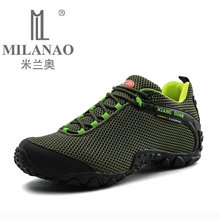 MILANAO Waterproof Hiking Mountain Shoes For Men Climbing Mesh Man's Trekking Sneakers Outdoor Walking tenis para caminhada