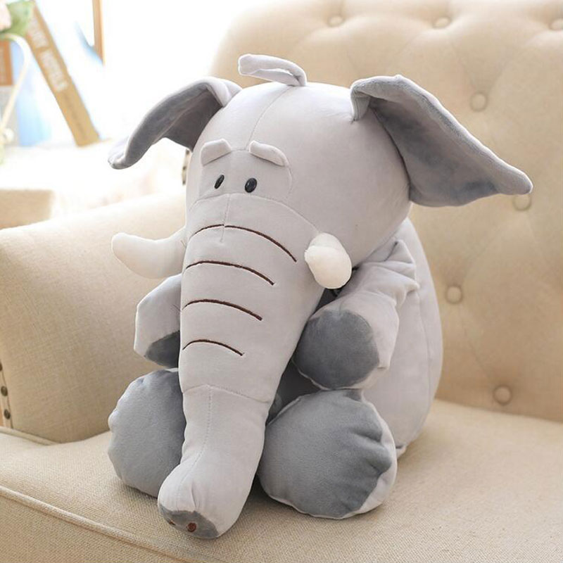 90cm New Style Elephant Style Doll Stuffed Elephant Plush Pillow Kids Toy Children Room Bed Decoration Toys For Gift Plush Toy 40cm new fashion animals toys stuffed soft elephant pillow baby sleep toys room bed decoration plush toys for kids