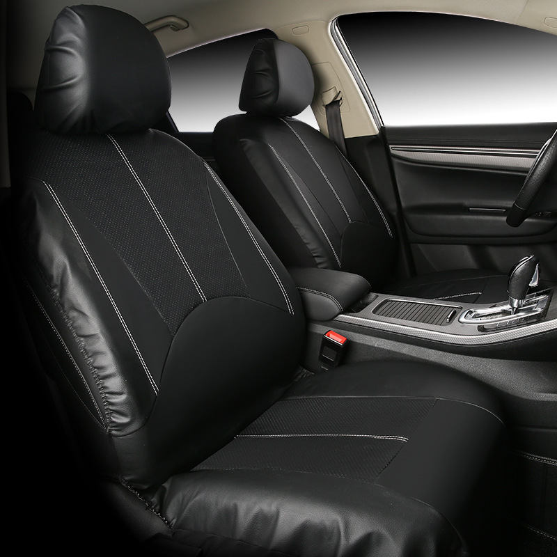 Luxury Leather Universal Car Seat Covers Automotive Seat Covers for toyota Corolla Vios lada kalina granta priora Kia k2 k3 k4 1set pu leather automotive universal car seat covers fit seat cover aoto accessories for toyota kia aio ford focus 2 lada granta