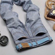 Plus Size 28-40 Men's Jeans Summer Style High Quality Cotton  Denim Jeans Casual Straight Washed Pants Fashion Jeans Het Sell