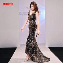 FADISTEE New arrival elegant long dress prom party dresses formal dress sequin pattern simple mermaid evening dress