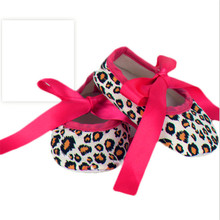 Autumn cotton shoes baby toddler girls leopard pattern bow decoration newborn children