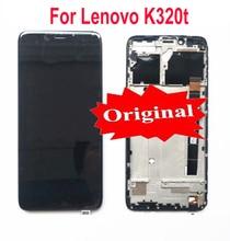 "100% Original Best ทำงานจอแสดงผล LCD Touch Screen Digitizer ASSEMBLY พร้อมกรอบสำหรับ Lenovo K320t 5.7 ""โทรศัพท์ SENSOR อะไหล่"