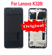 """100% Original Best Working LCD Display Touch Panel Screen Digitizer Assembly With Frame For Lenovo K320t 5.7"""" Phone Sensor Parts"""