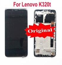 """100% oryginalny najlepiej działający panel wyświetlacza dotykowego lcd ekran Digitizer zgromadzenia z ramą dla Lenovo K320t 5.7 """"telefon czujnik części"""