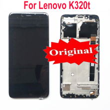 "Original New Best Working LCD Display Touch Panel Screen Digitizer Assembly With Frame For Lenovo K320t 5.7"" Phone Sensor Parts"