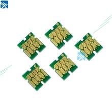 5 шт. бак для обслуживания отходов чернил чипы для Epson T3000 T5000 T7000 T3200 T3070 T5070 T7070 T3270 T5270 T7270 один раз чип