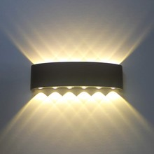 Waterproof LED Wall Light ip65 12W Die cast Aluminum Sconce Mounted AC85V-265V Indoor Outdoor Lighting Modern Lamp