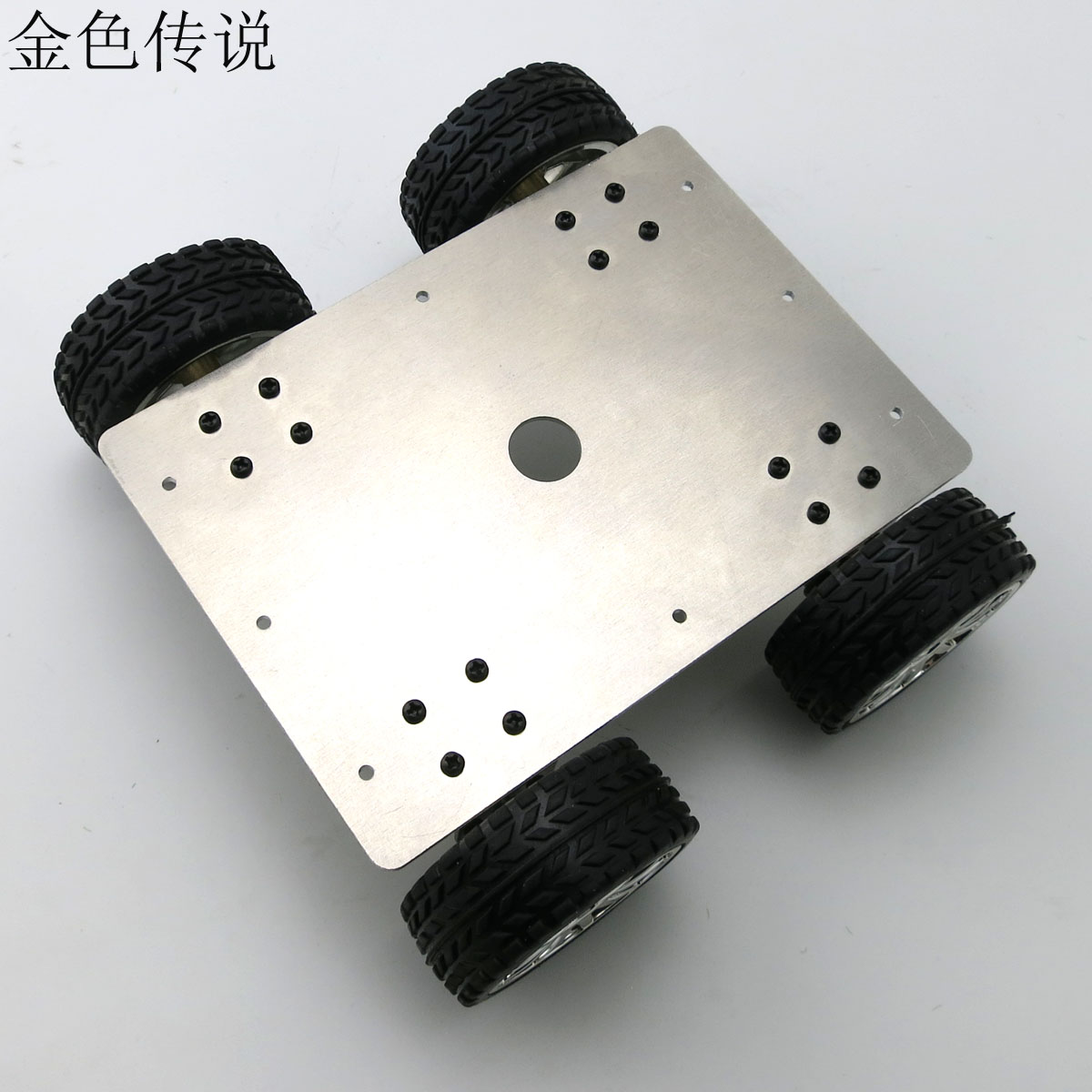25 type aluminum alloy wheel drive car tracking car driving robot 4 4WD smart car chassis 2 wheel drive robot chassis kit 1 deck