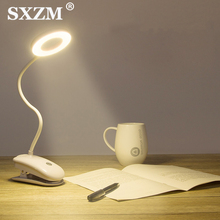 LED Desk Lamp On/Off Switch USB Rechargeable Clip Desk Lamp 3 Modes Eye Protection Led Dimmer Table Lamp Reading Lighting