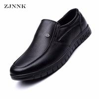 HANDL Gentlemen Shoes Genuine Leather Men Flats Businessmen Leather Shoes Male Oxfords Zapatos Hombres Father Men