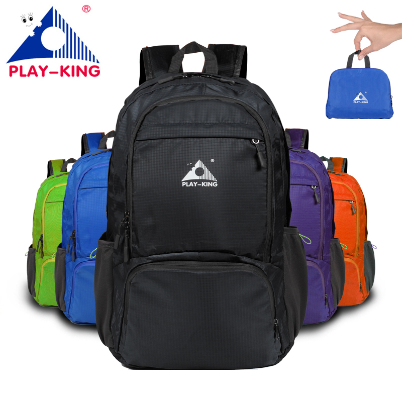PLAYKING Nylon Foldable Backpack Waterproof Ultralight Backpack Folding Lightweight Outdoor Travel Sport Hiking Bag 30L 40L armband for iphone 6