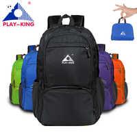 PLAYKING mochila impermeable plegable de viaje al aire libre bolsa ligera plegable bolsa deporte senderismo gimnasio mochila camping trekking