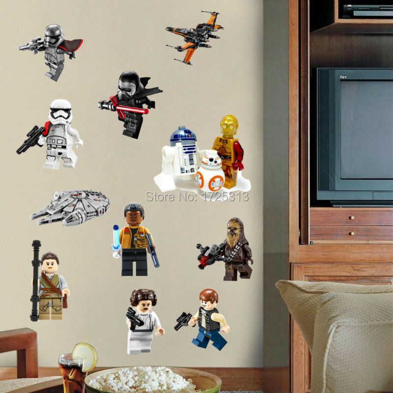 Star Wars Poster Lego Movie Wall Stickers Art For Baby Nursery Kid Room  Home Decoration WallPaper ...
