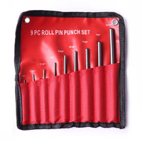 Hot Sale 9Pcs Lot Round Head Pins Punch Size 1 16 5 64 3 32 1