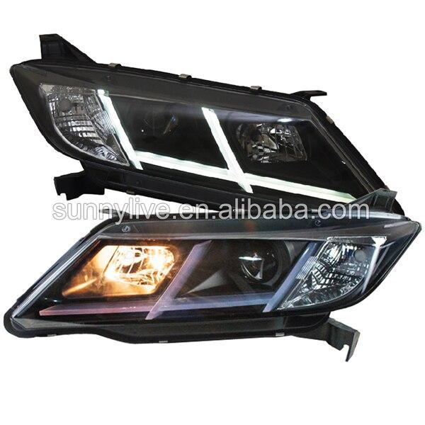 LED headlight For City for grace for Ballade LED Angel EyesHead Lamp 2015 UP
