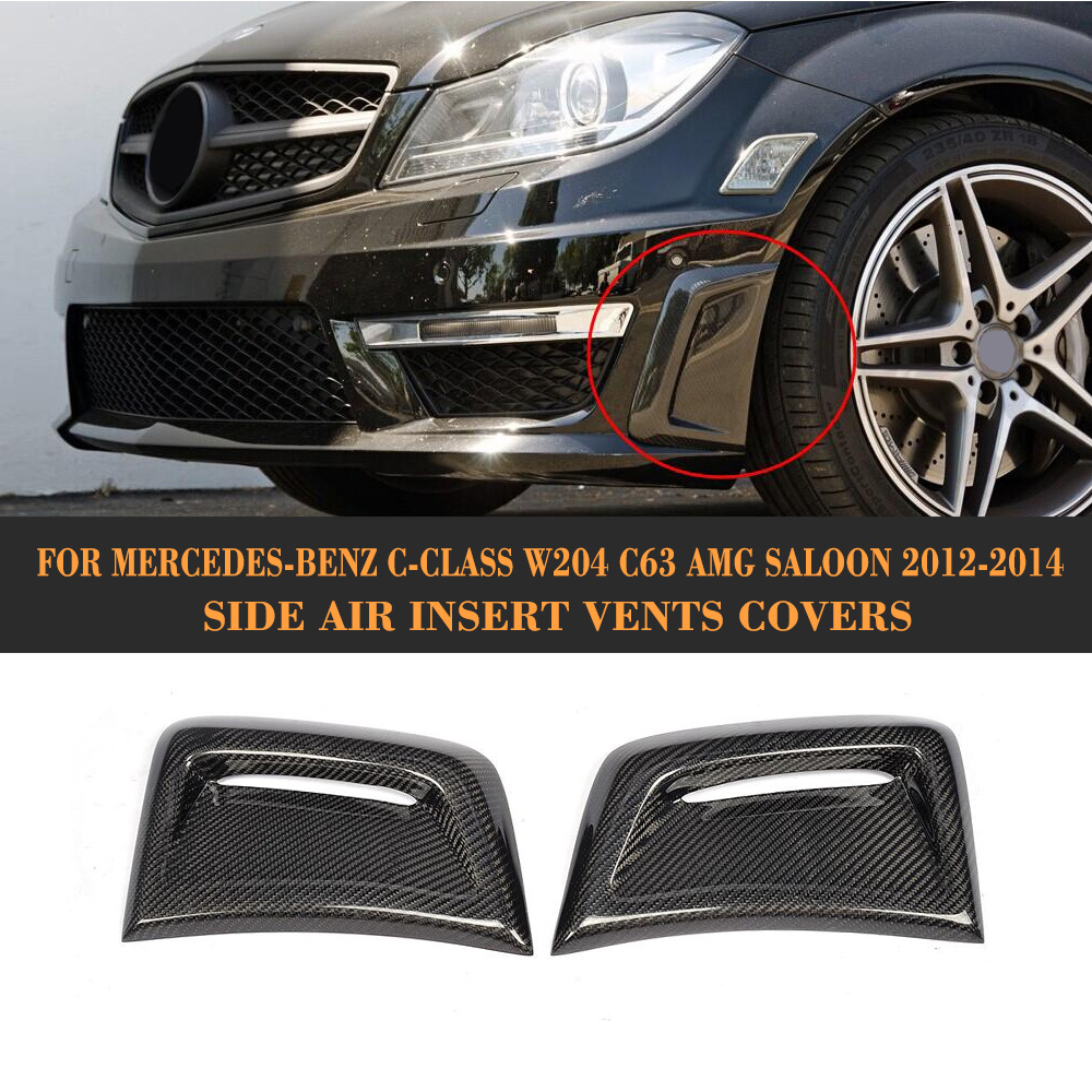 Auto Fender Decor Car Air Flow Sticker decorative Side Scoop Car Side Vent for BENZ C63 AMG Facelift 2012-2014 ob 515 universal air flow vent hood covers for car silver pair