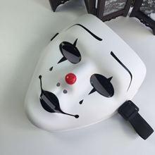 Страшная маска на все лицо, Маскарадная маска на Хэллоуин, Вечерние Маски белого цвета в стиле хип-хоп, косплей, украшенная Jabbawockeez, пластиковая маска из ПВХ