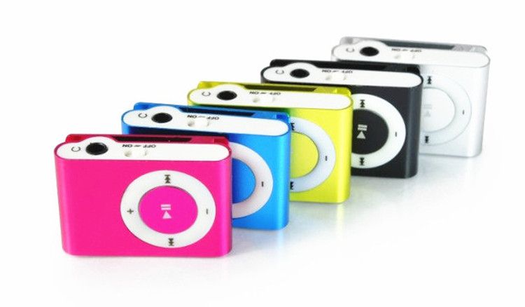 New 3.5mm Mini MP3 Players Micro USB Metal Clip MP3 support up to 16GB TF-Card Slot Digital Mp3 Music Player Portable Audio