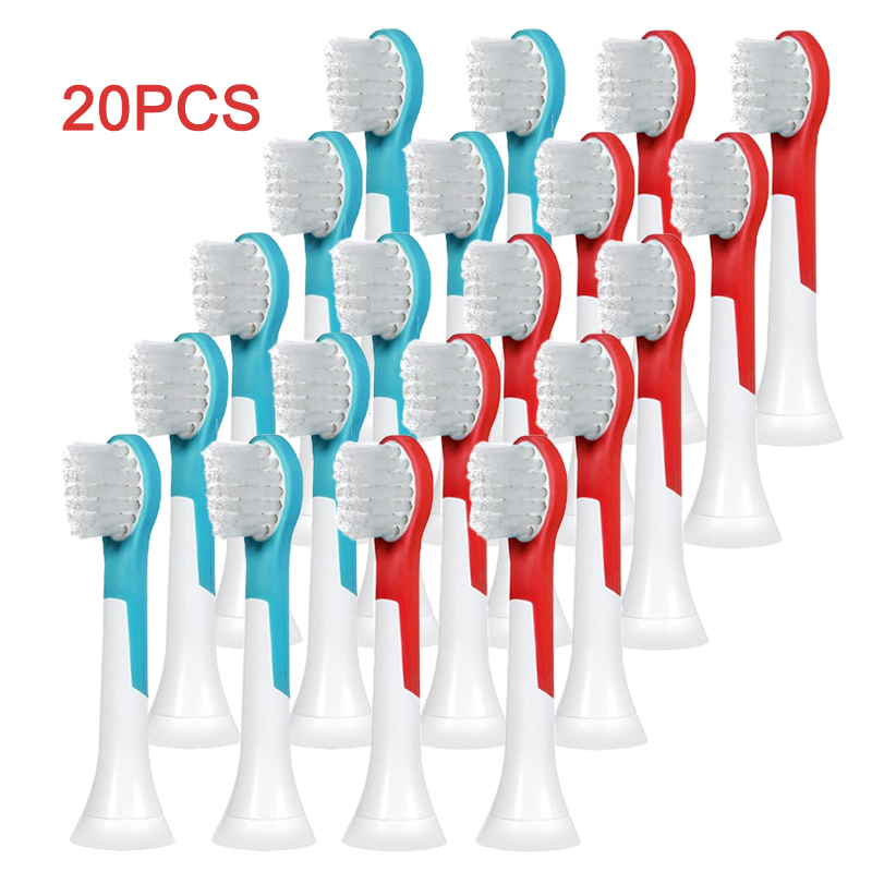 20PCS Tooth brush heads <font><b>HX6034</b></font> For PHILIPS Sonicare HX6930 HX6730 HX6530 HX9342 HX6311 HX6031 R710 RS950 HX6530 Kids Brush heads image