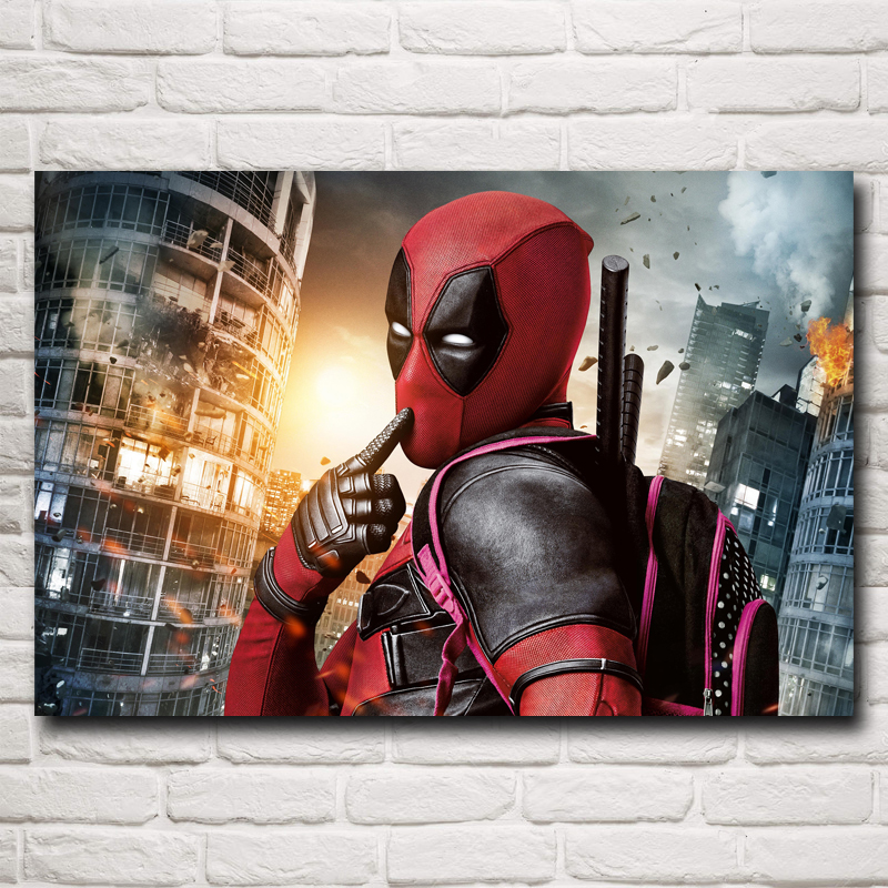 FOOCAME Seeking Visual Arts Store Deadpool Wade Wilson USA Superheroes Comic Movie Art Silk Poster Home Decor Painting 12x18 16X24 20x30 24x36 Inch Free Shipping