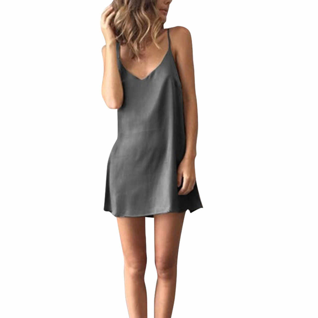 ファッション女性ノースリーブソリッドパーティーカクテルビーチドレスサンドレスミニドレスセクシーなセレブパーティードレス