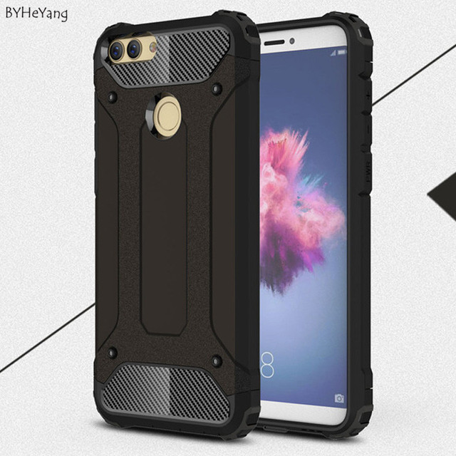 BYHeYang Shockproof Protection Hard Armor Cases For Huawei Enjoy 7S Protective cases For Huawei P Smart full cover phone shell