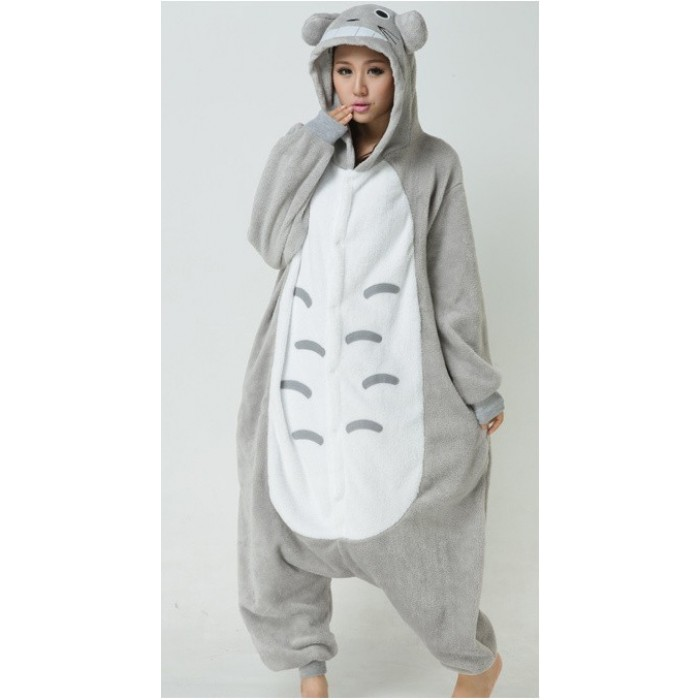 Unisex Fleece Adult Totoro Onesies Animal Cosplay Costume Halloween Xmas Pajama