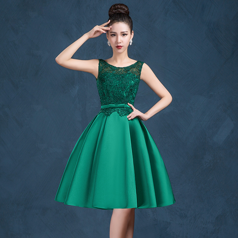 e6c99991895 2016 new arrival Women's cocktail party dresses short dress lace up sexy V  opening back bow lace dress free shipping-in Cocktail Dresses from Weddings  ...