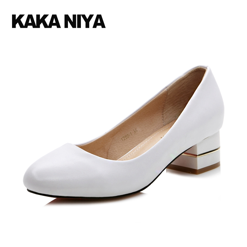 Block Heel Shoes High Quality Women 2017 Pumps Low British Style Heels Rubber Cuban Heel PU Slip On Shallow Mouth Genuine vintage big bowtie women shoes bright color high quality patent pu leather low heel shallow slip on shoes woman xwd3767