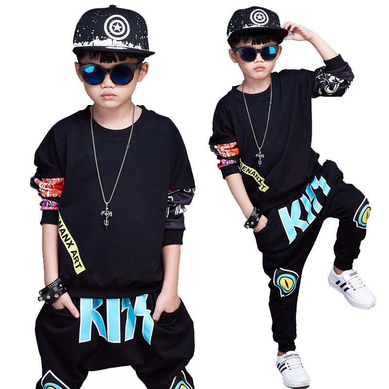 clothes suits for child hip hop costumes kids clothing
