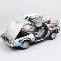 1/18 Большие весы обратно в будущее время машины DeLorean DMC Горячие литья под давлением и автомобили hover mod металлические транспортные средства к