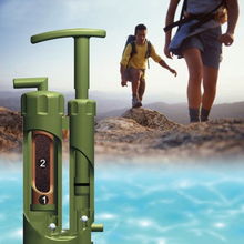AOTU New High Quality Portable Plastic 0.1 Micro Soldier Water Filter Purifier Cleaner Outdoor Hiking Camping Survival Emergency