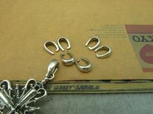 50 шт. 8 x 11 мм старинное серебро центр-пинча snap-передняя Bails когти застежка C3340