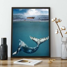 Animal Poster Blue Whale Posters and Prints Illustration Art Canvas Painting Nordic Wall Picture For Living Room Decor For Home