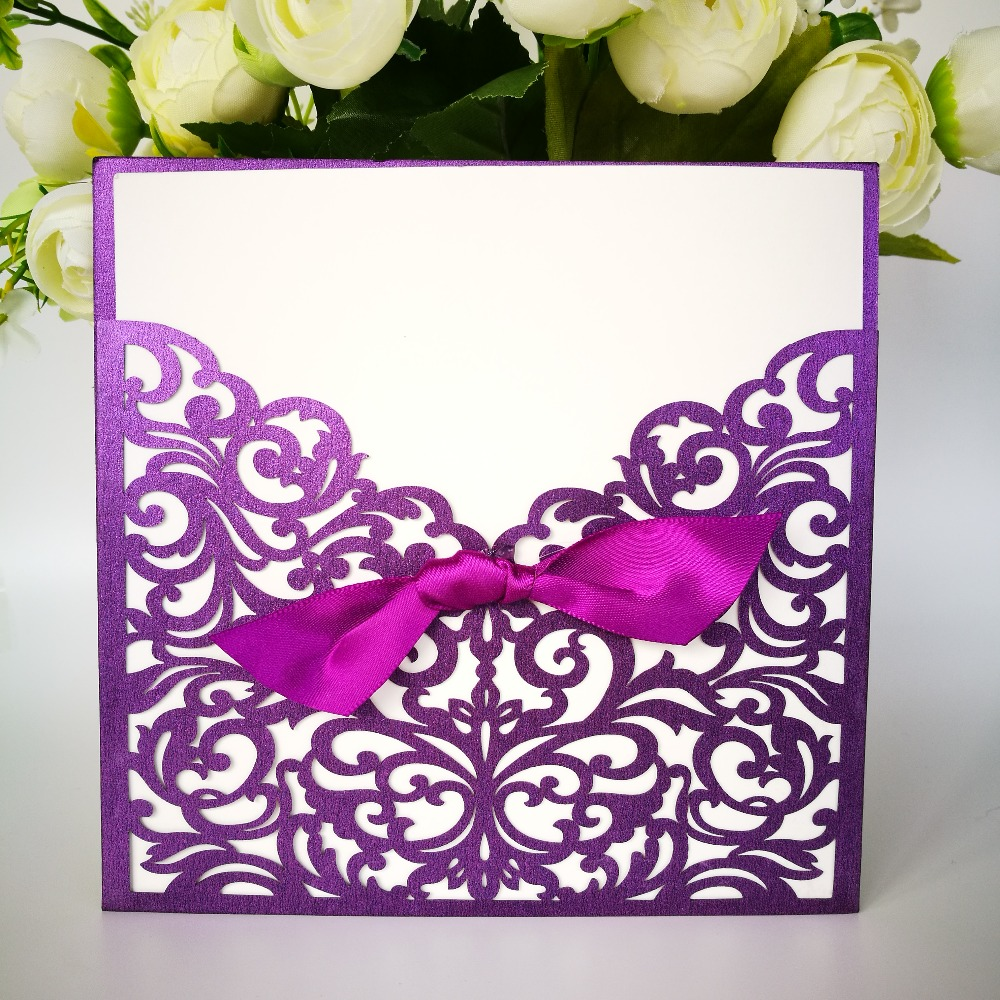 100Pcs Wedding Invitations Cards Birthday Invitations Paper Craft ...