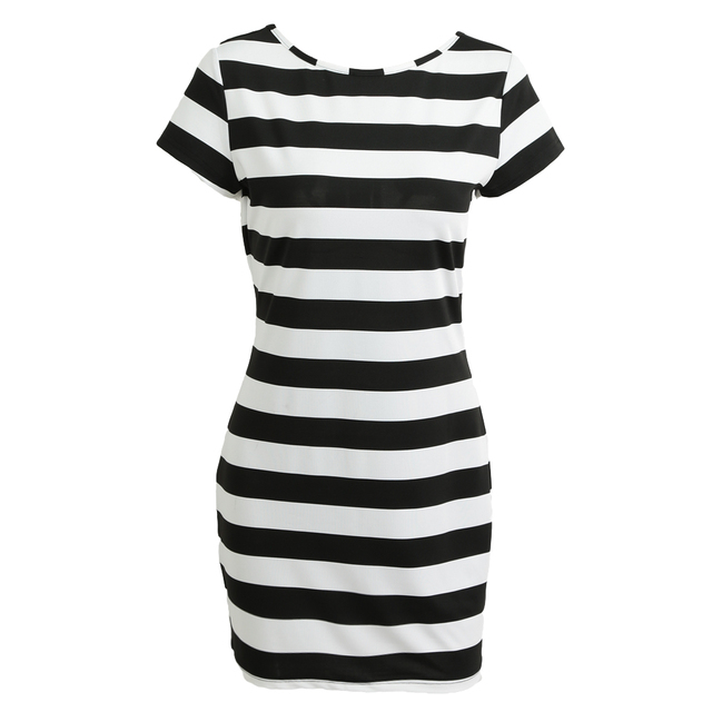 #Women #K-pop #Dress #Korean Cut Out Tie Bow Backless #Striped #Summer #Dress #Sexy #Dress #girl #grl #fashion #boygrl 2