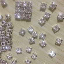 3 4 5 6 7 8mm glass Sewing Rhinestones Buttons Silver or gold Claw cup  rhinestones crystal sew-on buttons Trim B046 af060093328a