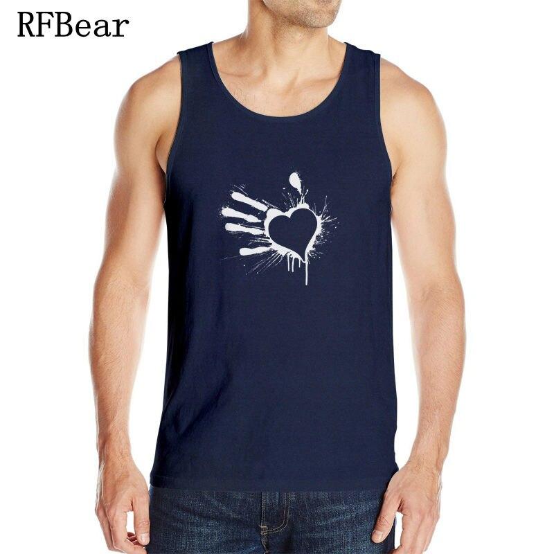 rfbear brand tank tops fashion man100 cotton o neck summer sleeveless vest 2017 casual