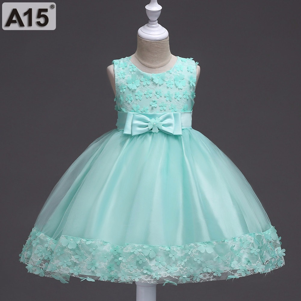 Princess Dresses for Children Girls Birthday Party Dress Flower Girl Wedding Clothing Kids Lace Dress Crianca Fiesta Vestidos 12 girl party dress princess dress high quality embroidery lace flower girl dresses children clothing girl wedding dress