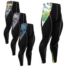 Fashion Men 3D Prints Long Trousers Compression Tight Elastic Leggings Multi-functional Quick Dry Wear Pants MMA Jogger