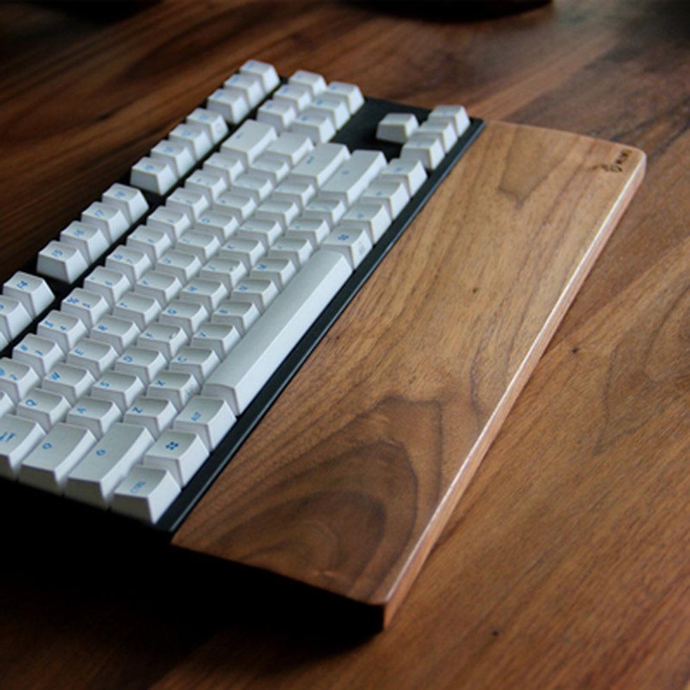 Walnut Wooden Mechanical Keyboard Wrist Rest Pad Wrist Support Hand Pad For Mechanical Keyboard Ergonomic Mechanical Gaming Desk