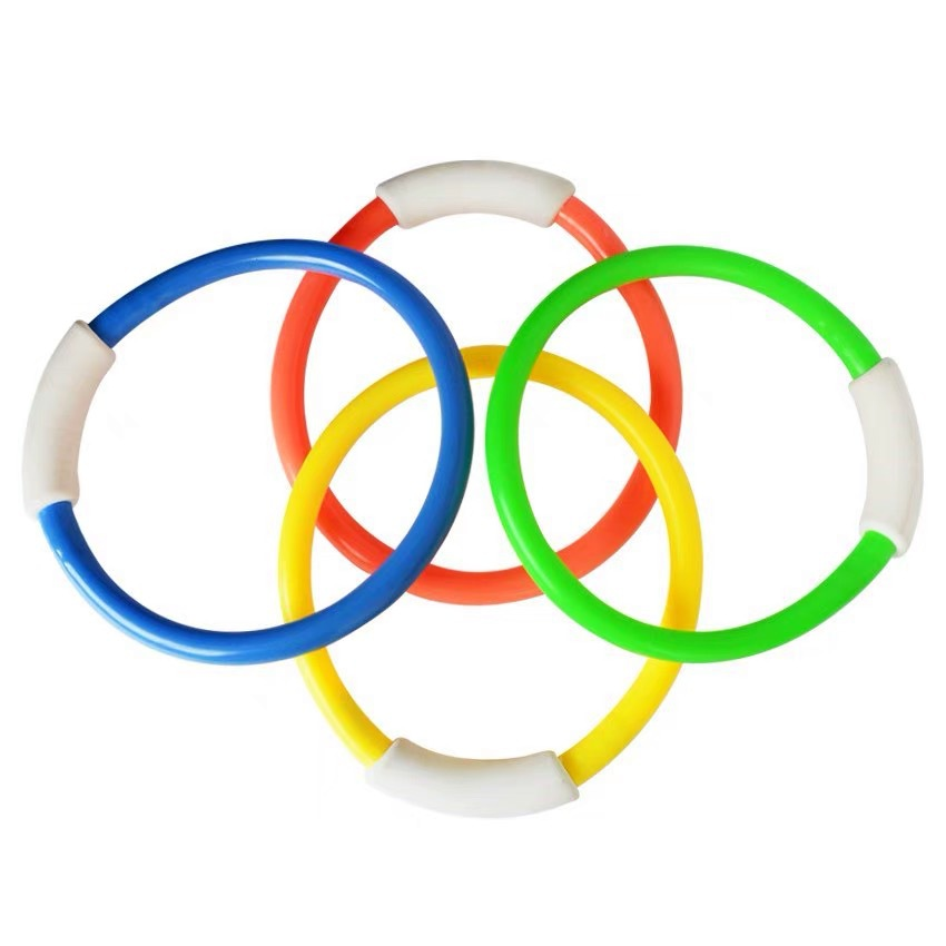 Dive Ring Swimming Pool Accessory Toy Swimming Aid for Children Water Play Sport Diving Kids Pool Fun Beach Summer Toy 4PCS in Pool Accessories from Sports Entertainment