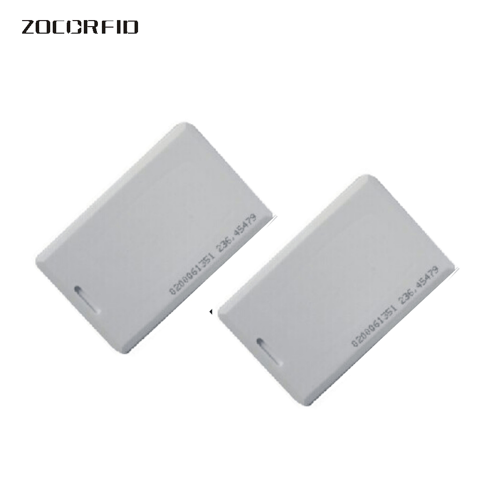 Free shipping 10pcs 125KHZ 1.8mm thick Long distance reader range EM ID Card use for rfid proximity 1M  range card reader id card 125khz rfid reader