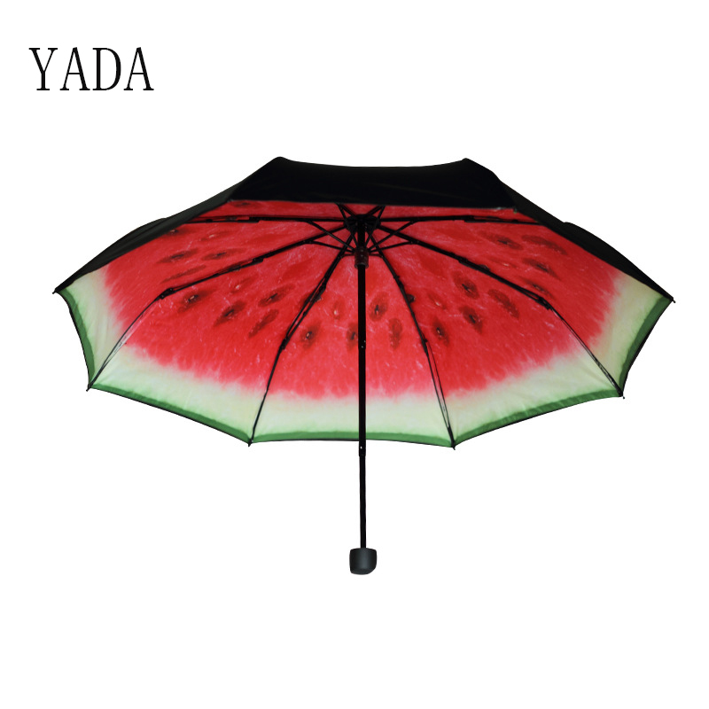 YADA Watermelon pattern Charms Folding Umbrella Rain Women uv High Quality Umbrella For Womens brand Windproof Umbrellas YS172 in Umbrellas from Home Garden